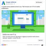 PPC annuncio Google AdWords su Facebook