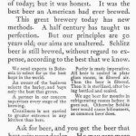 posizionamento e branding - esempio pubblicità birra Schlitz