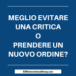 Scrivere contenuti per evitare una critica o prendere un nuovo ordine?